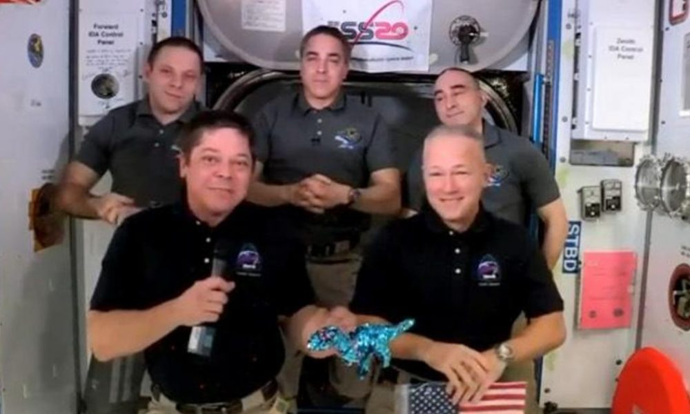Crypto coin SpaceX Crew Dragon pack for historic undocking and splashdown