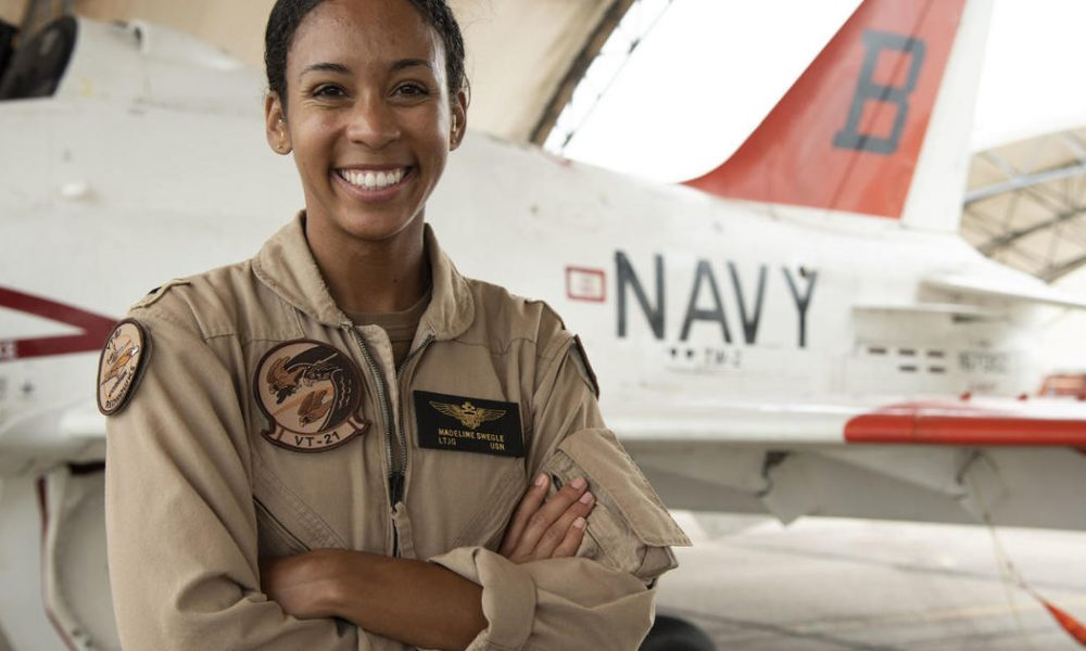 Crypto coin U.S. Navy's first Black female fighter pilot gets her Wings of Gold