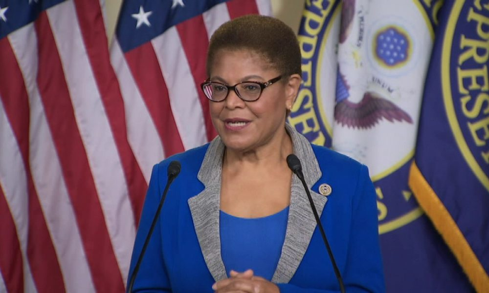 Karen Bass, on Biden VP shortlist, scrambles to explain remarks on Castro, Scientology