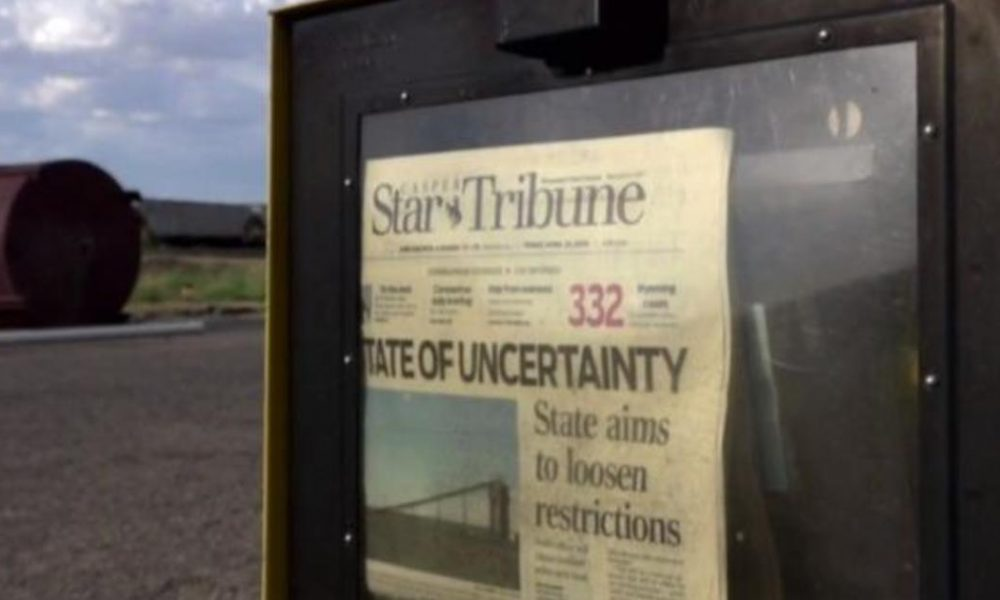 Crypto coin Wyoming's lone remaining daily newspaper adjusts to changing times