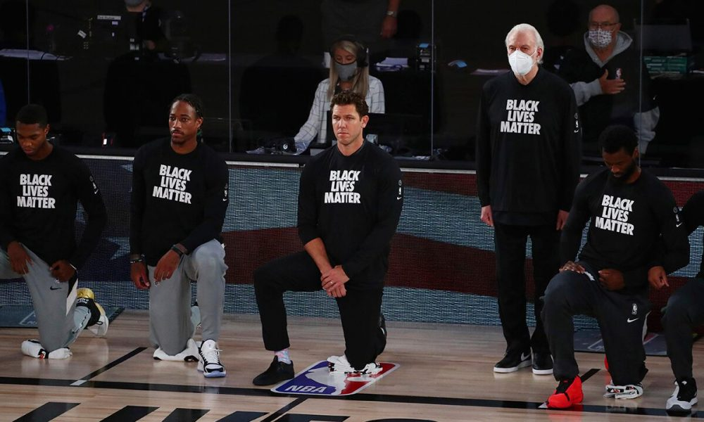 Spurs' Gregg Popovich on standing during national anthem while team knelt: 'I'd prefer to keep that to myself'