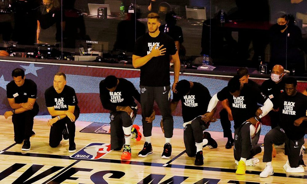 Heat's Meyers Leonard on why he stands for national anthem